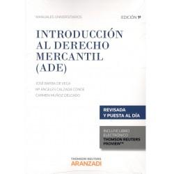 INTRODUCCIÓN AL DERECHO MERCANTIL (novedad curso 2015-2016)