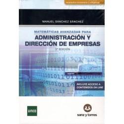MATEMÁTICA AVANZADAS PARA ADMINISTRACIÓN Y DIRECCIÓN DE EMPRESAS (niueva edición curso 2016-17)