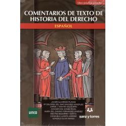 COMENTARIOS DE TEXTOS DE HISTORIA DEL DERECHO ESPAÑOL (nueva edición curso 2016-17)